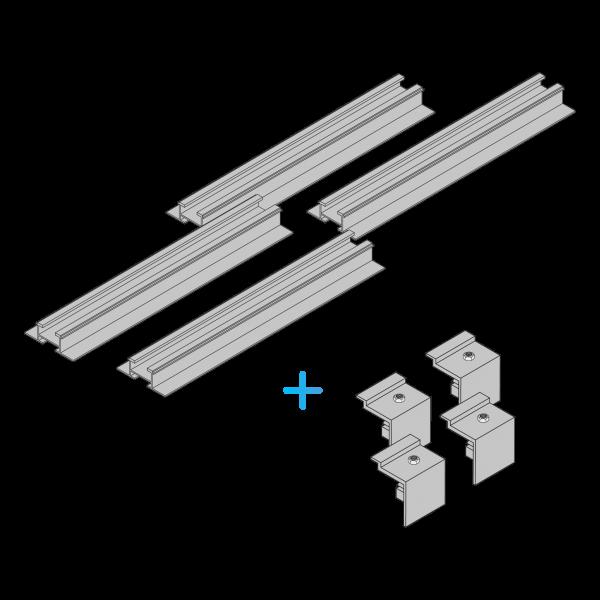 Schiene für Wandmontage